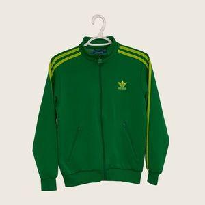 Green Adidas Zip-Up Sweater